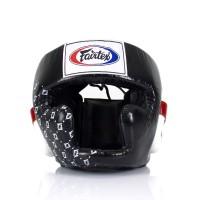 HG10. Шлем тренировочный с закрытыми подбородком и скулами.Цвет Чёрный