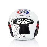 HG10. Шлем тренировочный с закрытыми подбородком и скулами.Цвет Белый