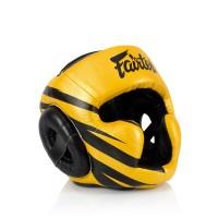 HG16 Шлем Fairtex тренировочный. Цвет золото. (Модель 2019 года - M1)