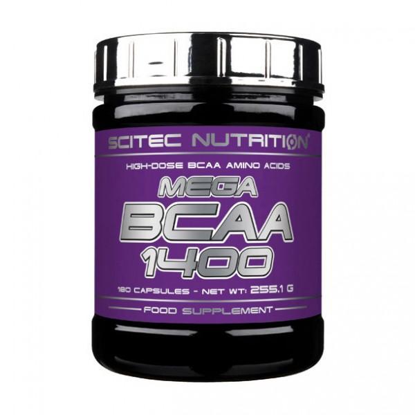 Scitec Nutrition MEGA BCAA 1400 180 капсул