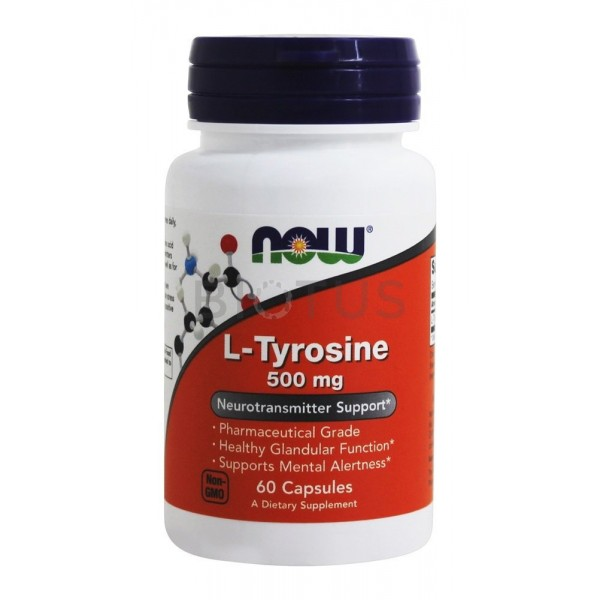 Now Foods L-Tyrosine 500 мг 60 капсул